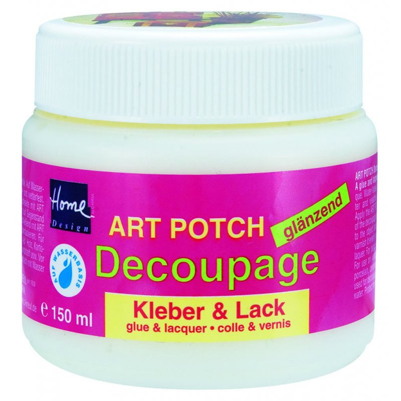 art potch decoupage kleber lack gl nzend 150ml. Black Bedroom Furniture Sets. Home Design Ideas
