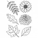 Clear Stamps Herbstpflanzen, A7, 6 - teilig