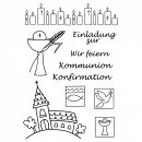 Clear Stamps Kommunion / Konfirmation, A7, 10 - teilig