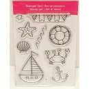 Clear Stamps Strand, A7, 9 - teilig