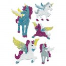 Sticker Einhorn Diamond glittery