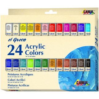 Acrylfarbe el Greco, 24er-Set, 12 ml