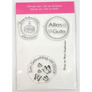 Clear Stamps Alles Gute, A7, 3 - teilig
