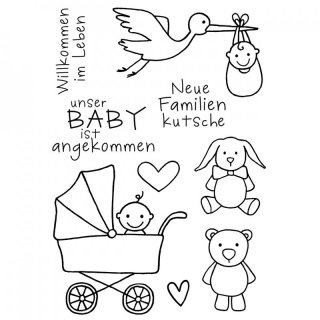 Clear Stamps Baby, A7, 9 - teilig