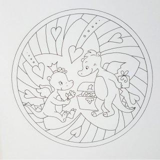Zauberhafte Mandalas Drachen Mit Glitzerstickern