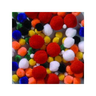 Pompons Mix 7 - 25mm, 75 Stck