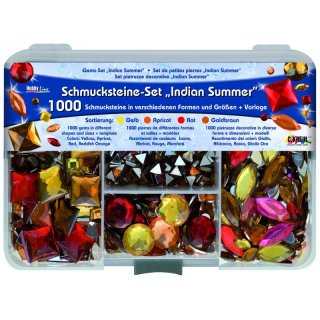 Schmucksteine-Set Hobby Line Indian Summer - 1.000 Steine
