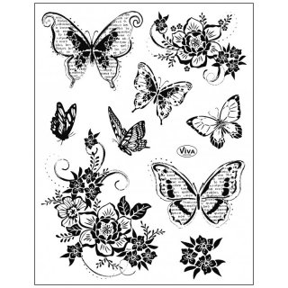 Stempel Blumen & Schmetterlinge 2 Viva Decor