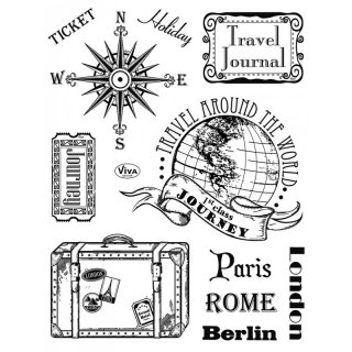 Stempel Paris, Rom, Berlin - Reise Viva Decor