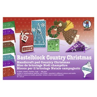 Fotokarton-Bastelblock Country Christmas, 300 g/qm