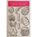 Clear Stamps Frohe Ostern, A7, 8 - teilig