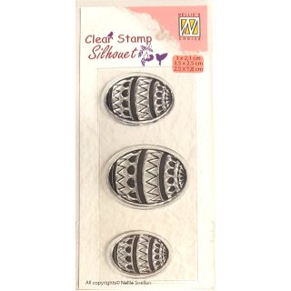 Nellies Choice Stempel Silhouette Easter Eggs