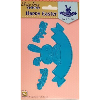 "Stanzschablone ""Frohe Ostern - Happy Easter"" Nellie´s SDB033"