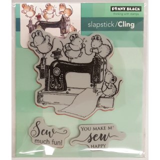 "Stempel ""Sew Much Fun"" Cling Stamp"