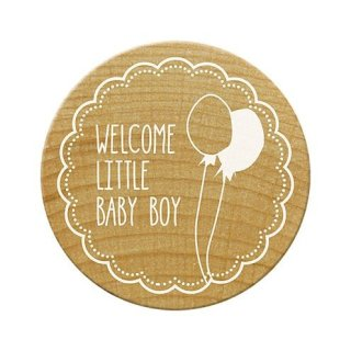 Woodies Stempel Welcome little baby boy