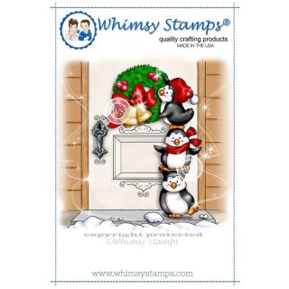 Stempel Penguins Hang a Wreath Whimsy Stamps