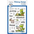Stempel Camping Dragons Whimsy Stamps