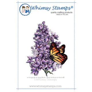 Stempel Lilac and Butterfly Whimsy Stamps