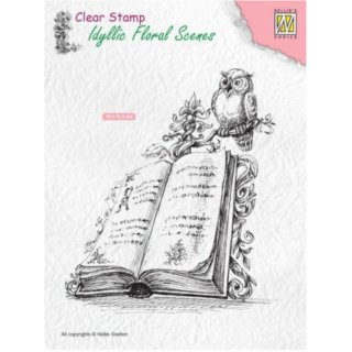 Stempel Book with owl Nellies Choice