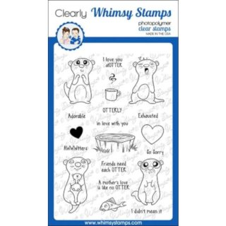 Stempel Adorable Otters Whimsy Stamps